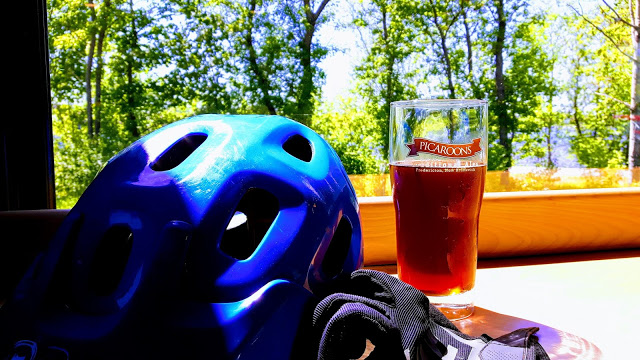 Post-ride cool down with a view.