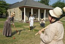Croquet in Barracks Square