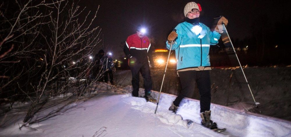 Moonlight Snowshoe Battleship Scavenger Hunt
