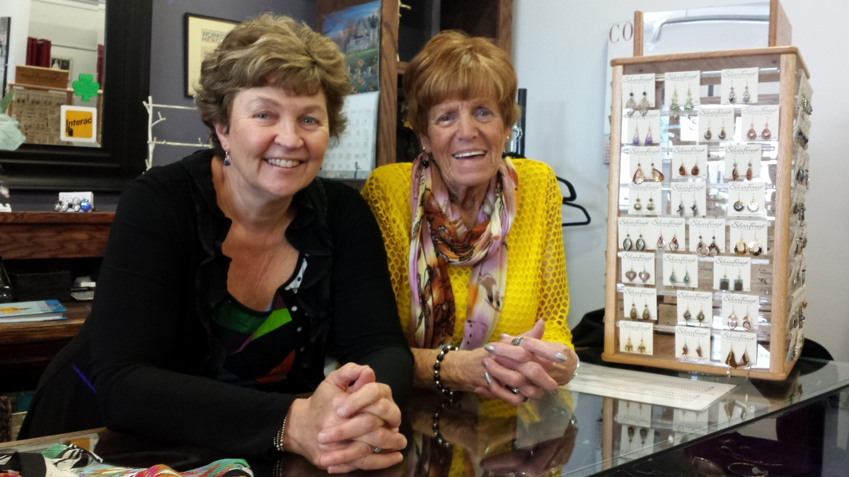 Judy and Phyllis at Second Showing Boutique