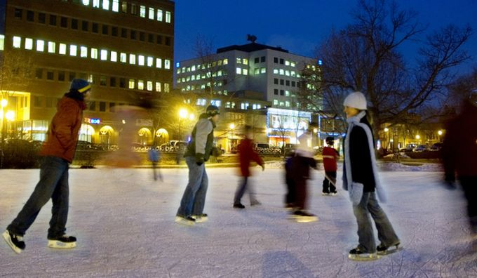 Skating in Fredericton - Family Day in New Brunswick