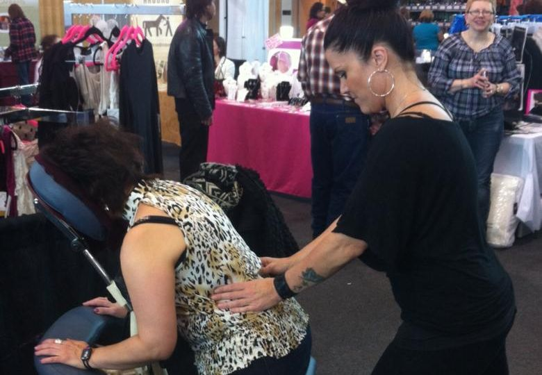 Massage at the Fredericton Women's Show