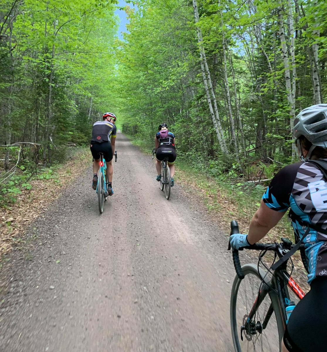 Cycling on gravel trail Fredericton