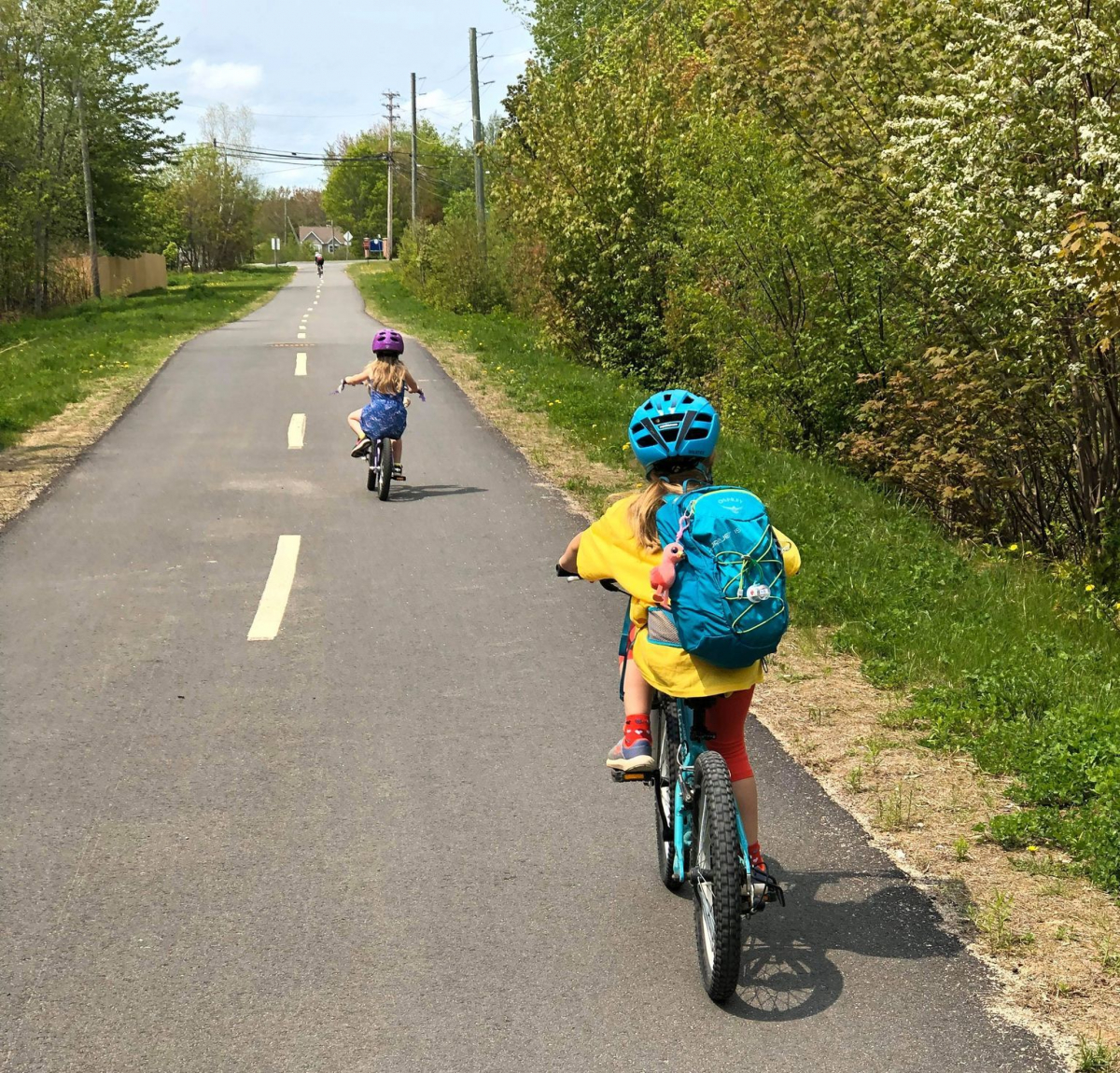 biking on paved trails